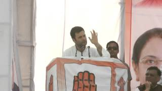 Rahul Gandh Addresses Public Rally at Unnao, Uttar Pradesh, 16 April 2014