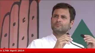 Rahul Gandhi's Public Rally in Khandwa Stadium, Khandwa, Madhya Pradesh on 17th April 2014