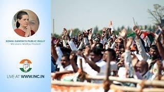 Sonia Gandhi's Public Rally in Mandsaur, Madhya Pradesh on 18th April 2014