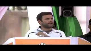 Rahul Gandhi Addressing a Public Rally in Maldaha Uttar, West Bengal on April 19, 2014