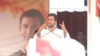 Rahul Gandhi Addresses Public Rally at Devgarh, Gujarat on April 26, 2014