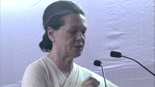 Smt. Sonia Gandhi Addresses Public Rally at Kozhikode, Kerala on April 7, 2014