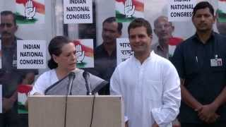 Smt. Sonia Gandhi and Rahul Gandhi on 2014 Election Results
