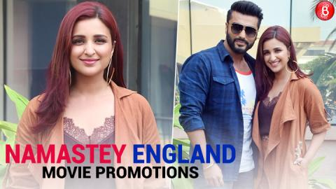 Spotted: Arjun Kapoor and Parineeti Chopra Promotion their upcoming movie 'Namastey England'
