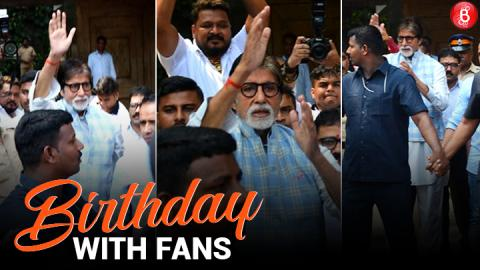 Amitabh Bachchan celebrates his birthday with his fans