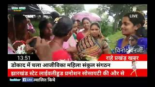 राहे#डोकाद में आजीविका महिला संकुल संगठन का उद्धघाटन#विधायक सीमा महतो ने फीता काट कर की#sona news,