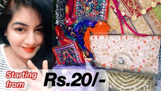 Navratri Shopping Haul Under Rs. 150 | Affordable Jewellery, Purse, Clutch, Makeup | JSuper kaur