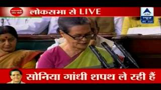 Sonia Gandhi Takes Parliamentary Oath