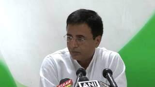 AICC Press Conference Addressed by Randeep Singh Surjewala on 27 June 2014