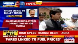 Jyotiradiyta Scindia on Rail Budget on 8 July, 2014
