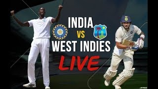 Live: IND Vs WI 2nd Test | Day 2  | Session 1 | Live Scores & Commentary | 2018 Series