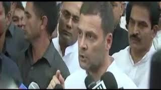 Congress President Rahul Gandhi addresses media in Bengaluru on Rafale Deal Scam