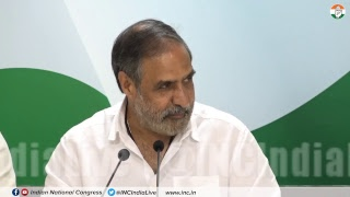 AICC Press briefing by Anand Sharma at Congress HQ