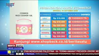 Perbandingan Harga e-Commerce: Cosmos Rice Cooker 1.8 L