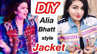 DIY Alia Bhatt inspired Denim Jacket | Indo Western Fashion | Men's Old Shirt into Jacket