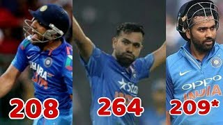 Rohit Sharma All 3 Double Century Highlights | Tribute To Rohit Sharma | Cricket News Today