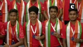 Junior men's hockey team receives warm welcome in Delhi after winning silver