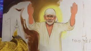 Dubai | Artist Navneet Agnihotri | Live Sai Baba Painting | Saral Roshan | 100 years of MahaSamadhi
