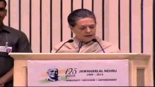 Smt. Sonia Gandhi speech on Jawaharlal Nehru Commemorative International Conference
