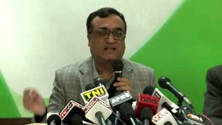 AICC Press Conference address by Ajay Maken | December 1,2014