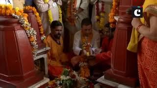 Rahul Gandhi offers prayers at Pitambara Shakti peeth in MP