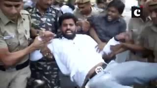 Youth Congress holds protest outside MJ Akbar's Delhi residence