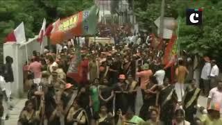 Thousands throng Kerala streets against SC's verdict on Sabarimala