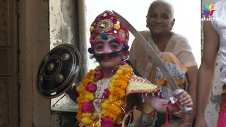 Celebration of Navratri with traditional bhavai in Patan