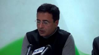 AICC Press Conference addressed by Randeep Singh Surjewala | 16 February, 2015