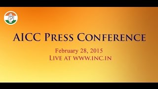 AICC Press Conference,  28 February  2015