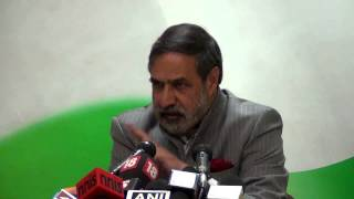AICC Press Conference addressed by Anand Sharma | 15 march, 2015