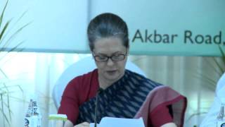 Modi-govt is dismantling the edifice of the welfare state: Smt. Sonia Gandhi