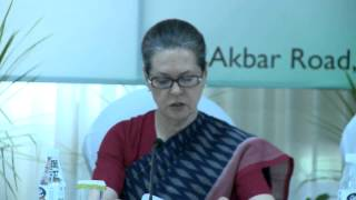 Congress President Smt.Sonia Gandhi's address to the CMs of Congress governed states
