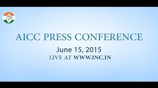 Live: AICC Press Conference on 15-June-2015