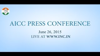 Live: AICC Press Conference on 26-June-2015