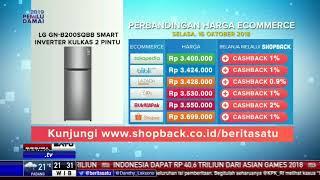 Perbandingan Harga e-Commerce: LG GN-B200SQBB Smart Inverter Kulkas 2 Pintu