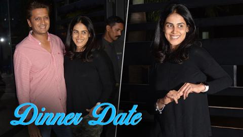 Riteish Deshmukh steps out for a romantic dinner date with wife Genelia D'Souza