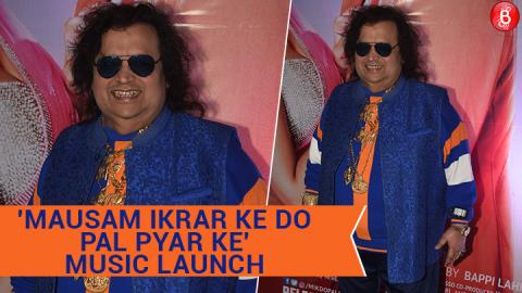 Bappi Lahiri at the music launch of 'Mausam Ikrar Ke Do Pal Pyar Ke'