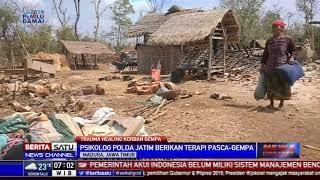 Polda Jatim Beri Trauma Healing ke Korban Gempa di Sumenep