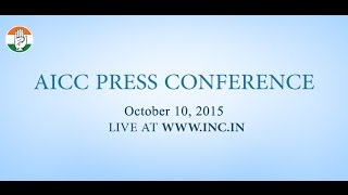 Live: AICC Press Conference   10 October, 2015