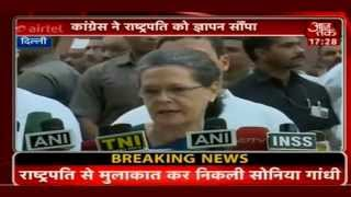 Smt. Sonia Gandhi Leads Congress March Against Intolerance to Rashtrapati Bhawan