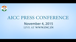 Live: AICC Press Conference on 4 Nov, 2015