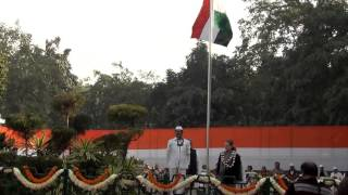 Smt. Sonia Gandhi unfurls the party flag on Foundation Day of the Congress Party