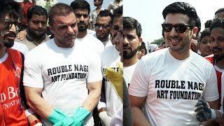 Misaal Mumbai Team For A Cleanliness Drive With Sohail Khan & Zayed Khan