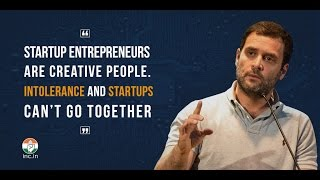 Start-ups and intolerance can't go together: Rahul Gandhi