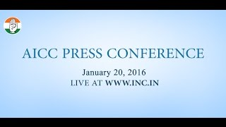 Live: AICC Press Conference on 20 Jan 2016
