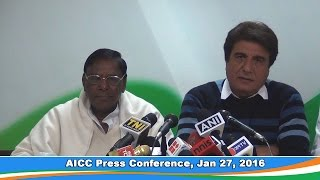 AICC Press Conference, 27 Jan 2016