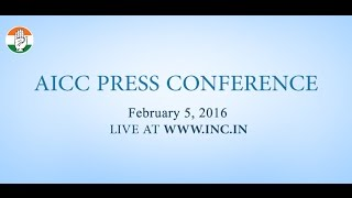 Live : AICC Press Conference on 5 Feb 2016