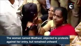 Sabarimala row: Woman returns mid-way after facing protests