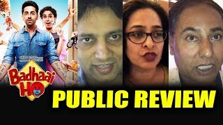 Badhaai Ho PUBLIC REVIEW | FIRST SHOW | Ayushmann Khurrana, Sanya Malhotra